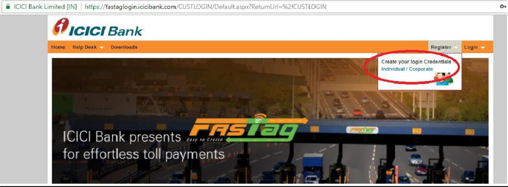 icici-fastag-login-second-step
